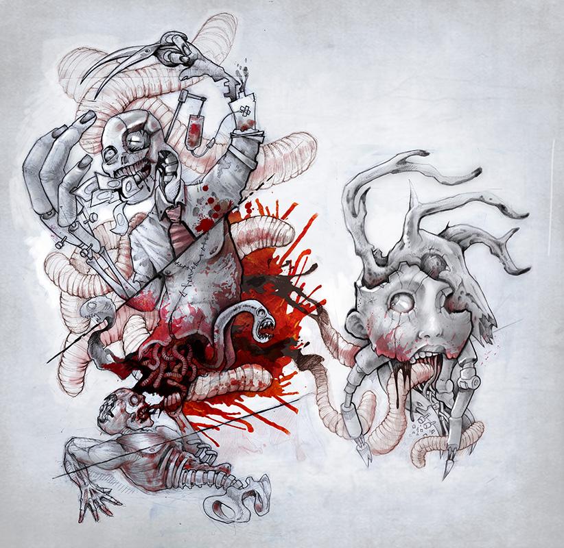 Page 2 la b te humaine studio de tatouage paris - Dessin horreur ...