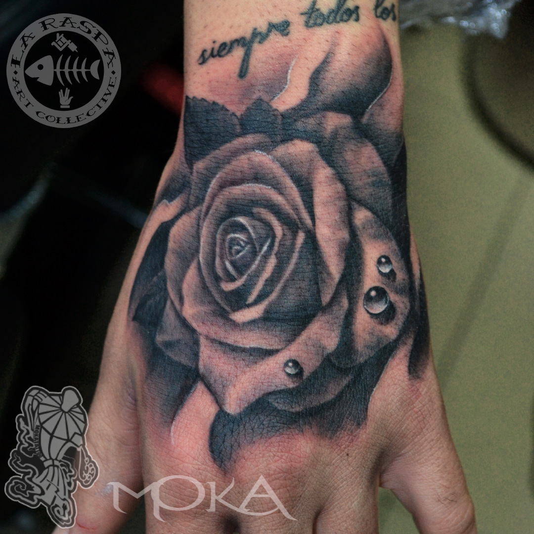 La b te humaine studio de tatouage paris - Tatouage rose main homme ...
