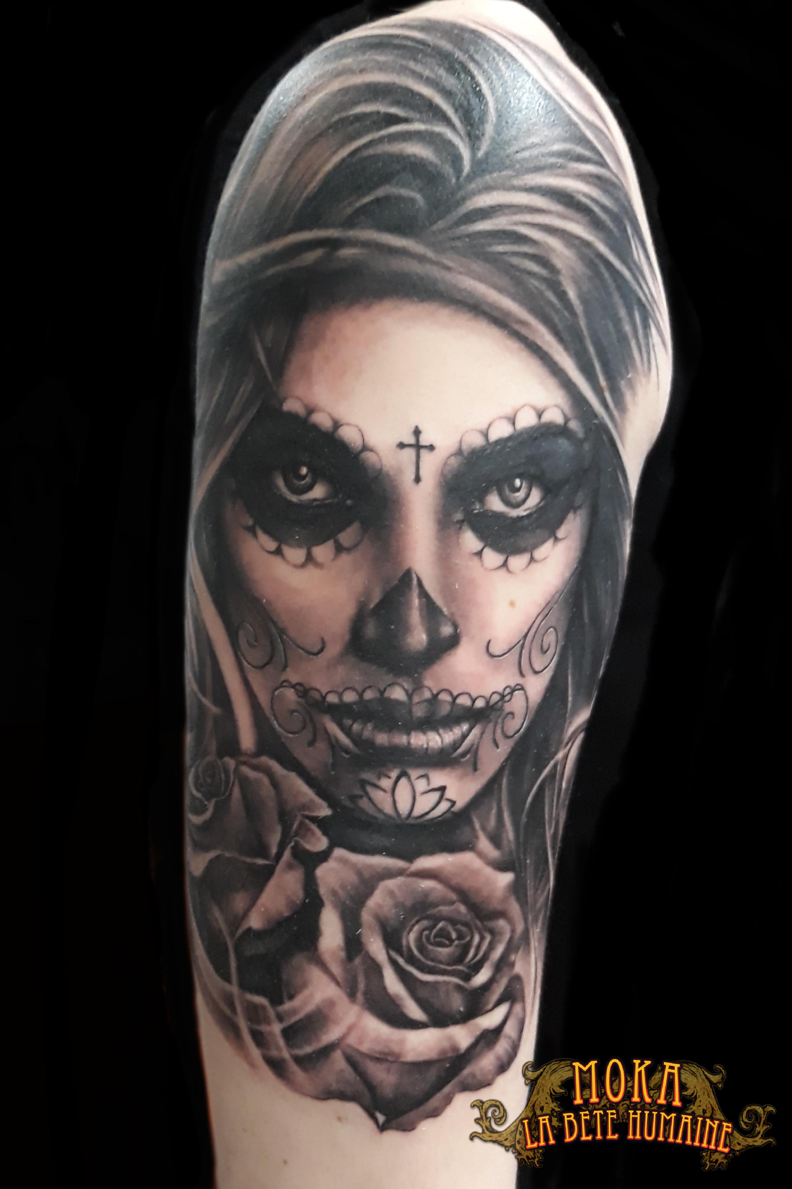 Galerie Tattoo 10 Catrina Nees Dans Notre Studio La Bete Humaine Tatouage