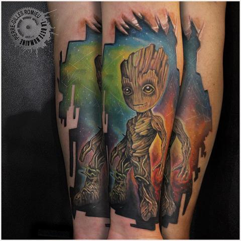 Un Tatouage Gardiens De La Galaxie La Bete Humaine Tatouage