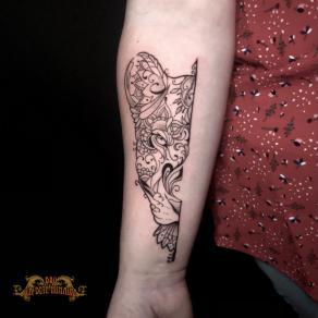 meilleur-tatoueur-paris-bro-vanthorn-tatouage-tattoo-felin-fleurs