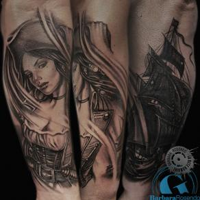 barbara-rosendo-realistic-tattoo-tatouage-realiste-noir-et-gris-black-and-grey-femme-pirate-girl