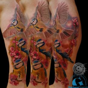 barbara-rosendo-realistic-tattoo-tatouage-realiste-colors-couleurs-mésanges-birds-animal