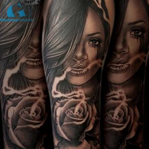 barbara-rosendo-realistic-tattoo-tatouage-realiste-noir-et-gris-black-and-grey-rihanna