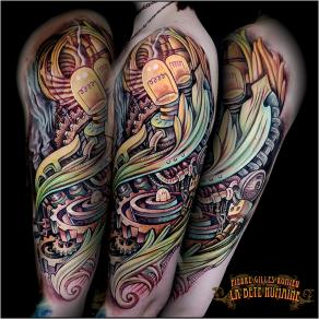 meilleur-tatoueur-paris-pierre-gilles-romieu-tatouage-manchette-steampunk-acanthe-tattoo