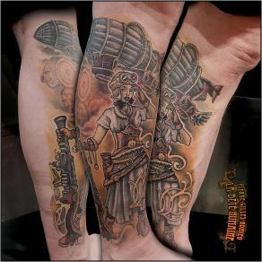 meilleur-tatoueur-paris-pierre-gilles-romieu-tatouage-steampunk-zeppelin-sepia-tattoo