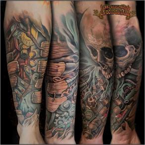 meilleur-tatoueur-paris-pierre-gilles-romieu-tatouage-tattoo-avant-bras-skull-steampunk