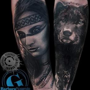 meilleure-tatoueuse-paris-barbara-rosendo-tatouage-amerindienne-loup-tattoo