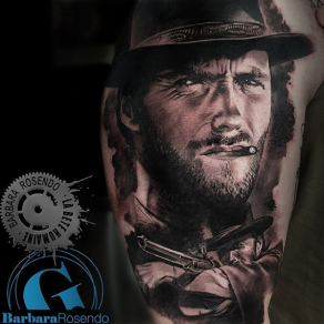 meilleure-tatoueuse-paris-barbara-rosendo-tatouage-clint-eastwood-tattoo