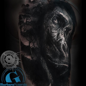 meilleure-tatoueuse-paris-barbara-rosendo-tatouage-gorille-dark-tattoo