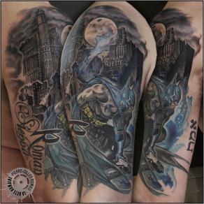 Pierre-Gilles Romieu_la_bete_humaine_tattoo_batman_gotham_gazette