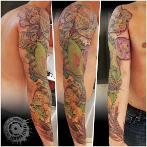 Pierre-Gilles Romieu_la_bete_humaine_tattoo_bras_legumes_oublies_couleur