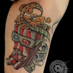 Pierre-Gilles Romieu_la_bete_humaine_tattoo_popcorn_newschool_couleur