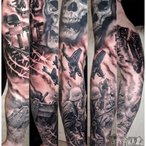 tatoueur-guest-paris-moka-tatouage-composition-guerre-mondiale-tattoo